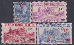 Tunisie N° 223 / 26 O  Timbres Surchargés.  La Série Des 4 Valeurs Oblitérations Moyennes Sinon TB - Gebruikt