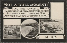 Multiview, Not A Dull Moment!, St Ives, Cornwall, 1964 - Valentine's RP Postcard - St.Ives