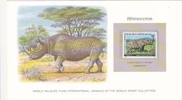 1979 CAMEROUN / CAMEROON / RHINOCEROS / Stamp Denomination : 50 F - Rhinozerosse