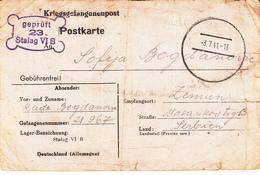 Kriegsgefangenenpost - Postkarte Du Stalag VI B Obl Du 3.7.41 Adressée à Zemun Avec Censure - Marcophilie (Lettres)