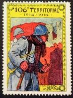 VT62 106ème Régiment Territorial Delandre - Vignettes Militaires