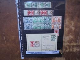 3eme REICH 1935 ZUSAMMENDRUCKE+BLOCS 4 +COURRIERS (4) - Briefe U. Dokumente