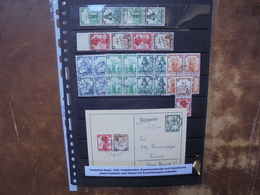 3eme REICH 1935 ZUSAMMENDRUCKE+BLOCS 4 +COURRIERS (4) - Covers & Documents