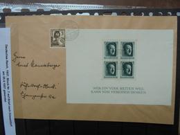 3eme REICH 1937 BLOC N°7 Sur COURRIER (7) - Covers & Documents