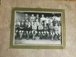 LE ROEULX: TRES BELLE PHOTO 12X16 DE LA CLASSE DE L'ECOLE MOYENNE DES GARCONS EN 1932 AU ROEULX - Le Roeulx