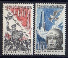 TCHECOLOVAQUIE ( AERIEN ) : Y&T N° 51/52  TIMBRES   NEUFS  SANS  TRACE  DE  CHARNIERE , A  VOIR . - Czechoslovakia