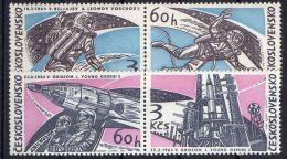 TCHECOLOVAQUIE ( POSTE ) : Y&T N°  1395/1398  TIMBRES   NEUFS  SANS  TRACE  DE  CHARNIERE , A  VOIR . - Czechoslovakia