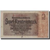 Billet, Allemagne, 2 Rentenmark, 1937, 1937-01-30, KM:174b, TB - [ 3] 1918-1933 : République De Weimar