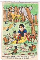 DISNEY    BLANCHE   NEIGE  ET   SES  PETITS  AMIS  DE LA  FORET  N°18      1T299 - Disneyworld