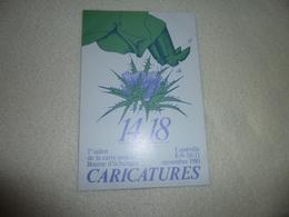BELLE  ILLUSTRATION ...1ER SALON DE LA CARTE POSTALE ..CARICATURE...LUNEVILLE 1980..SIGNE D. ANDRE - Bourses & Salons De Collections