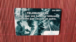Sratch & Phone Telebusiness 200 BEF 15/09/1999  Used 2 Scans Rare - [2] Prepaid & Refill Cards