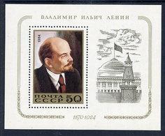 SOVIET UNION 1984 Lenin Birth Anniversary Block MNH / **.  Michel Block 174 - 1923-1991 USSR