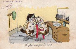 V12913  Cpa Illustrée  Chat -  Chats,  Illustrateur Germaine Bouret - Bouret, Germaine