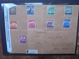 "3eme REICH(1941) ""LUXEMBOURG"" N°33-41 Sur COURRIER (18) - 1940-1944 German Occupation"