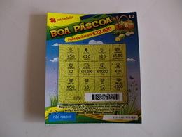 Loterie/ Lottery/ Loteria/ Lotaria Instant Instantânia Raspadinha Jogo Nº 335 Boa Páscoa - Biglietti Della Lotteria