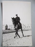 COLONEL MARGOT / ECUYER EN CHEF  VERS 1950 / CADRE NOIR / APPUYES AU TROT / MILITARIA / SAUMUR - Photographie