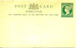 GIBRALTAR. Carte Pré-timbrée De 5 Centimos. Reine Victoria. - Gibraltar