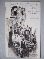 SUR LA TOMBE D'UN AMI / ROUVROIS SUR MEUSE / 1916 / ILLUSTRATION FAUER - Guerra 1914-18
