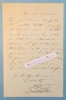L.A.S Antoine VOLLON Peintre Réaliste Lyonnais Tableau Paysage - VIBERT VERNET - Lettre Autographe à Emile VERNIER -Lyon - Autographes