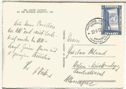 BELGICA  TP MAT NATIONS UNIES UNITED NATIONS EXPOSICION UNIVERSAL 1958 - 1958 – Bruselas (Bélgica)