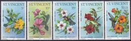 St. Vincent 1976 Tiere Fauna Animals Vögel Birds Oiseaux Pajaro Uccelli Kolibri Hummingbird Hibiskus, Mi. 441-5 ** - St.Vincent (1979-...)