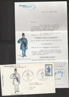 Publicité Laboratoires CHIBRET - Lettre Journée Du Timbre Paris 1968 Facteur Rural - Publicités