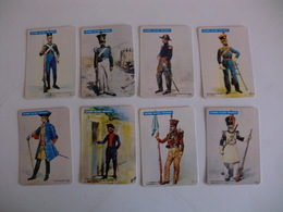 Military Uniforms Portugal Portuguese Complet Set Of 8 Pocket Calendars 1985 - Calendars
