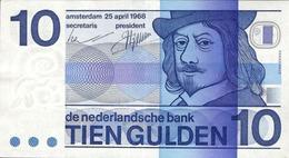 NETHERLANDS 10 GULDEN 1968 P-91b AU S/N 3434253543 [NL091b] - [2] 1815-… : Kingdom Of The Netherlands