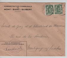 TP 425(2) S/L.Administration Communale De Mont-St-Guibert C.Mont St. Guibert 22/1/1947 1811 - Belgique