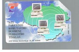 LITUANIA (LITHUANIA) -  1996  COMPUTERS              - USED - RIF. 10631 - Lituania