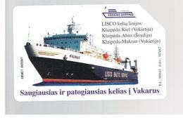 LITUANIA (LITHUANIA) -  1997  LISCO BALTIC SERVICE: KAUNAS SHIP       - USED - RIF. 10636 - Lituania