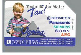 LITUANIA (LITHUANIA) -  1997 OGMIOS PULSAS, CHILD   - USED - RIF. 10650 - Lituania