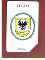 LITUANIA (LITHUANIA) -  1997 BIRZAI, COAT OF ARMS   - USED - RIF. 10657 - Lituania