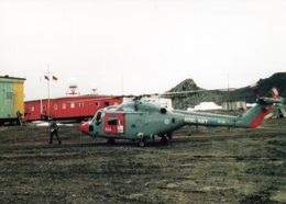 1 AK Antarctica * Die Russische Station Bellingshausen - Landing Of Royal Navy Helicopter From HMS - King George Island - Sonstige