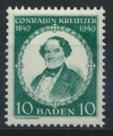 Baden 53 ** Postfrisch - Französische Zone