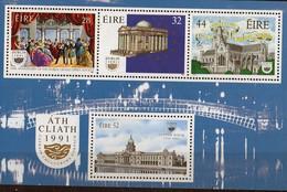 PIA - IRL - 1991 - Dublino - Capitale Europea Della Cultura - Foglietto Da Libretto  - (Yv Bf 10) - 1949-... Repubblica D'Irlanda