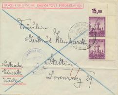 Deutsches Reich 2x819 Eckrand Auf Brief - Briefe U. Dokumente