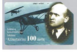 LITUANIA (LITHUANIA) -  1998 A. GUSTATIS, PLANE  - USED - RIF. 10663 - Lituania