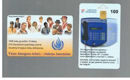 LITUANIA (LITHUANIA) -  1998 ONU, HUMAN RIGHTS    - USED - RIF. 10671 - Lituania