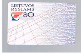 LITUANIA (LITHUANIA) -  1998  80 YEARS LITHUANIAN COMMUNICATIONS  - USED - RIF. 10675 - Lituania