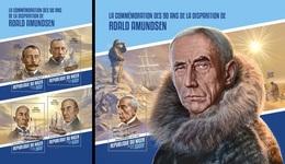 Niger 2018, Polar Explorers, Amundsen, 4val In BF+BF - Polarforscher & Promis