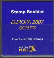Europa Cept 2007 Malta Booklet ** Mnh (F7020) Scouting - Europa-CEPT