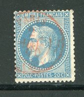 Y&T N°29B - Oblitération De Paris En Rouge (signé Brun) - 1863-1870 Napoleone III Con Gli Allori