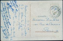 1928 , LEVANTE FRANCÉS , TARJETA POSTAL , BEYROUTH - PARIS , POSTE AUX ARMÉES 600. DAMASKUS BAB SALAME - Levant (1885-1946)