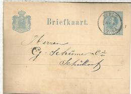 HOLANDA ENTERO POSTAL 1889 - Periode 1891-1948 (Wilhelmina)