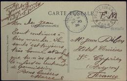 1926 , LEVANTE FRANCÉS , TARJETA POSTAL , BEYROUTH - ST, CYPRIEN , POSTE AUX ARMÉES 600. LE PETIT SÉRAIL - Levant (1885-1946)