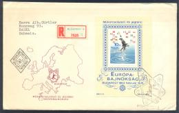 Hungary 1963 Registered Cover: Figure Skating Eiskunstlauf Patinage Artistique Pattinaggio; ISU European Championships - Eiskunstlauf