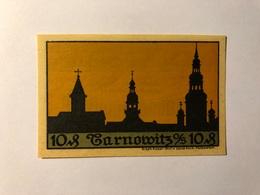 Allemagne Notgeld Tarnowitz 10 Pfennig - [ 3] 1918-1933 : Weimar Republic
