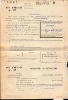 S.N.C.F.,Var, Tourves Gare, Lettre D Avis D Arrivee, 1967  (bon Etat) - Transportation Tickets