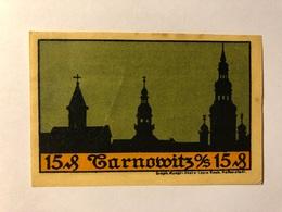 Allemagne Notgeld Tarnowitz 15 Pfennig - [ 3] 1918-1933 : Weimar Republic